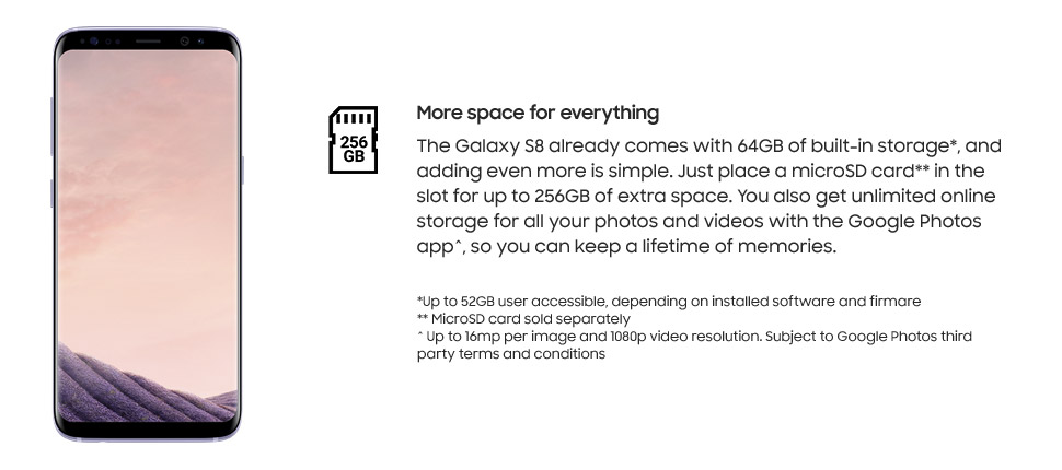 Samsung Galaxy S8 - More space for everything