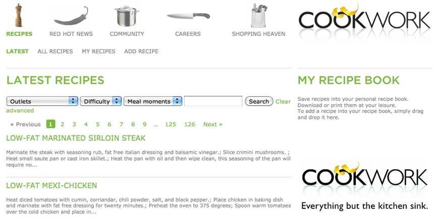 Cookwork screen 1