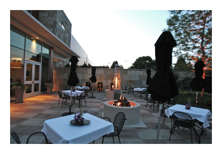 Waterleaf patio at dusk 400 pixels w border