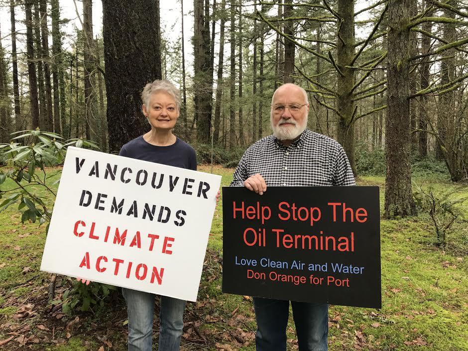 Sierra Club volunteers and WA state resident Don Steinke and