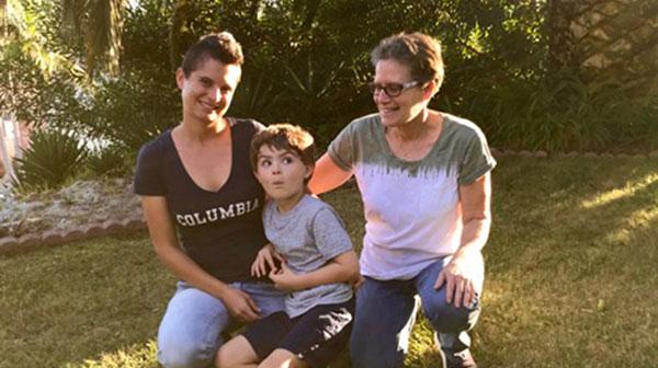 Oceanside Sierra Club volunteer Ellen with her daughter and grandson.