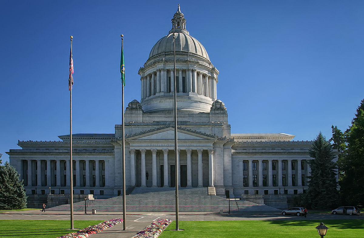 Photograph of the Washington State capitol building in Olympia