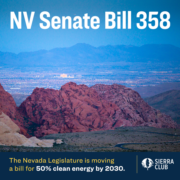 Sign the petition to show your legislators you want more of Nevada's power to come from clean energy