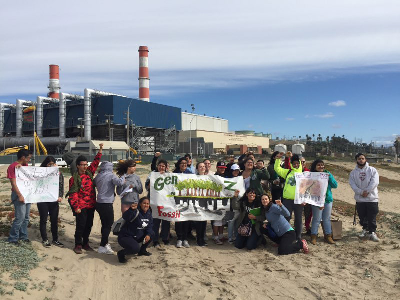 Image: Sierra Club staff and volunteers visit the site of Scattergood gas plant in El Segundo, CA.