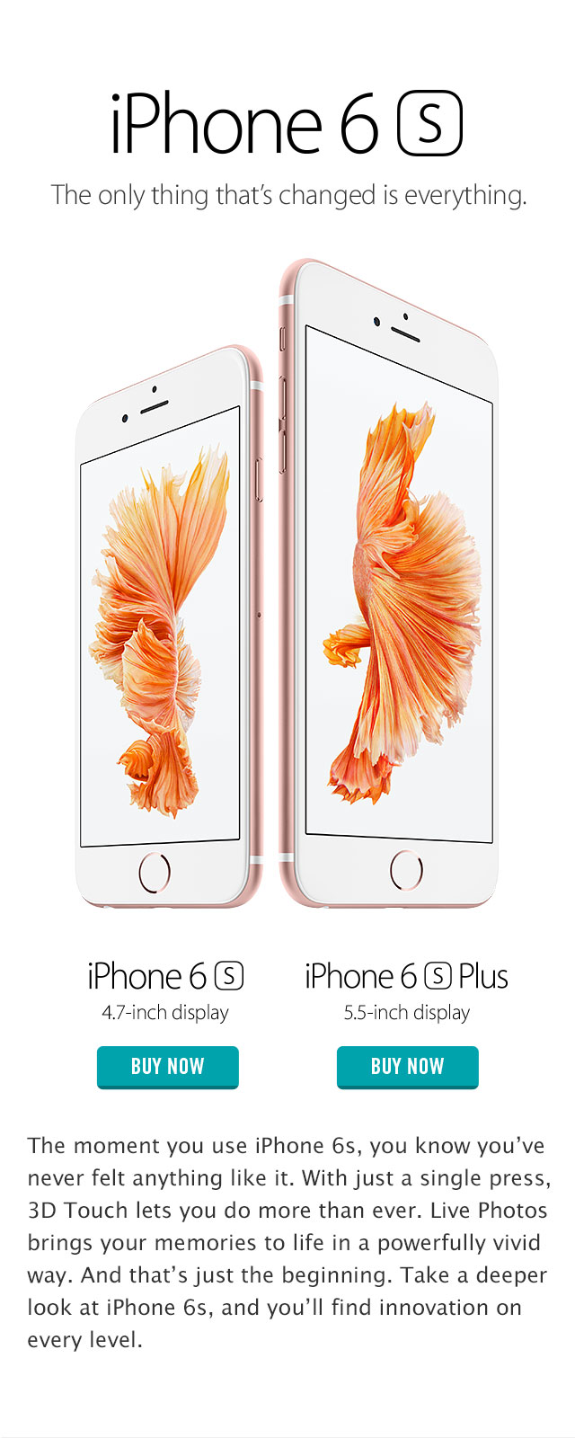 iphone 6s the only thing that has changed is everything
