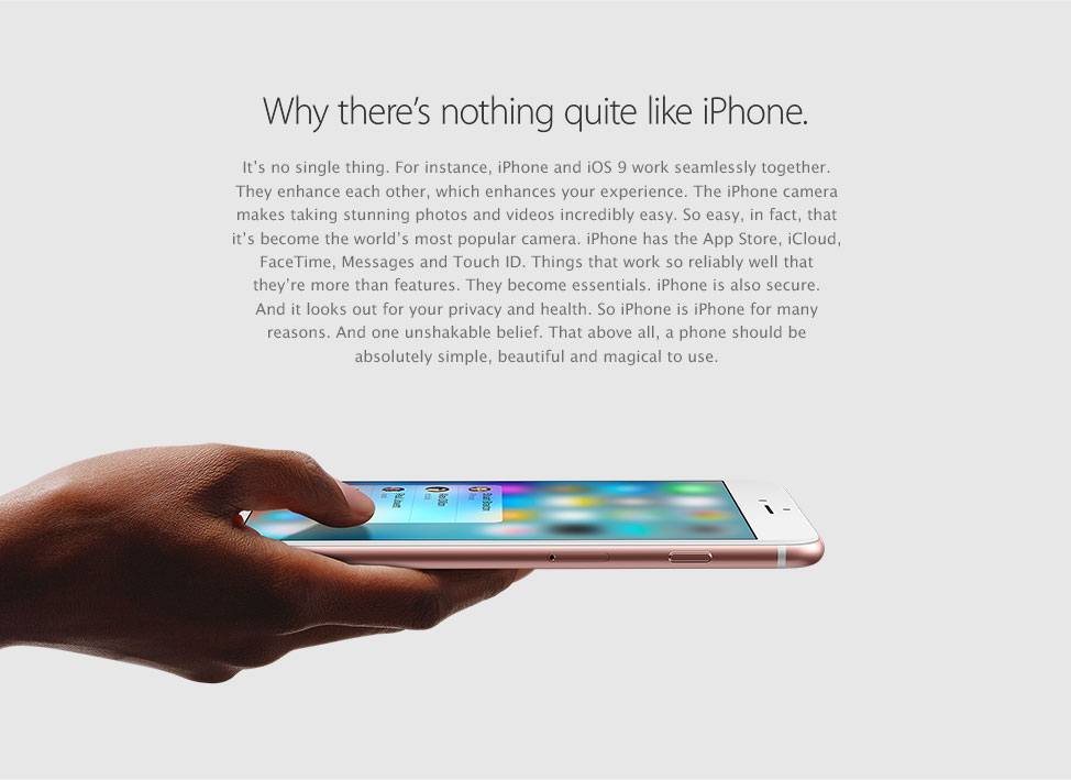 Why there's nothing quite like an iPhone