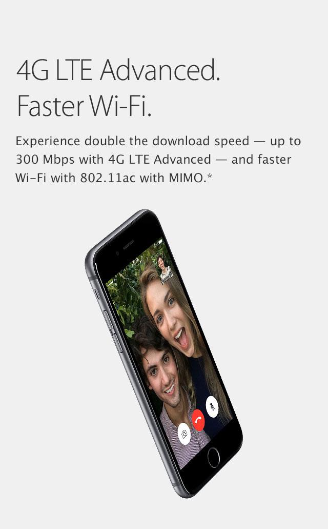 4G LTE Advanced. Faster Wi-fi