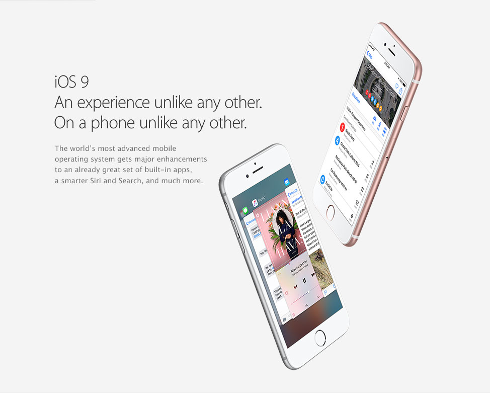 iOS9 An experience unlike any other