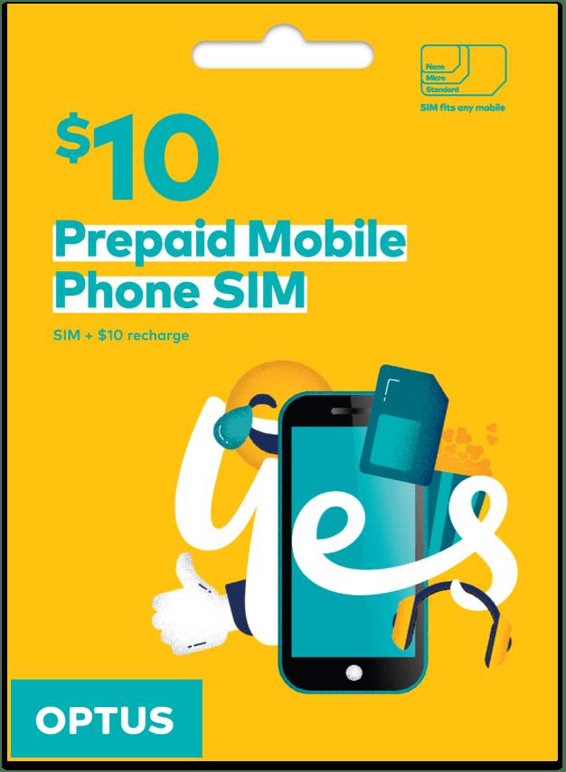 Optus $10 Prepaid SIM