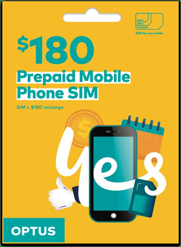 Optus $180 Prepaid SIM