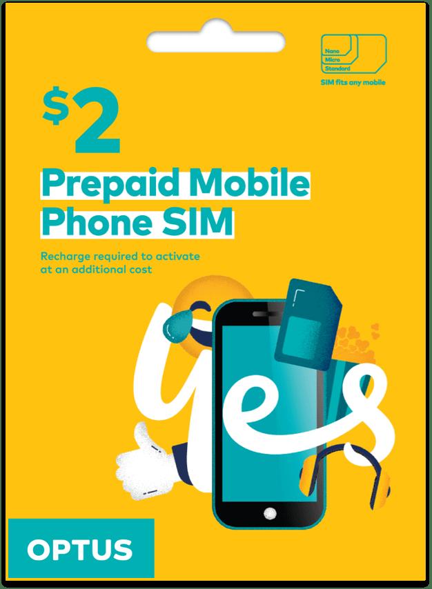 Optus $2 Mobile SIM