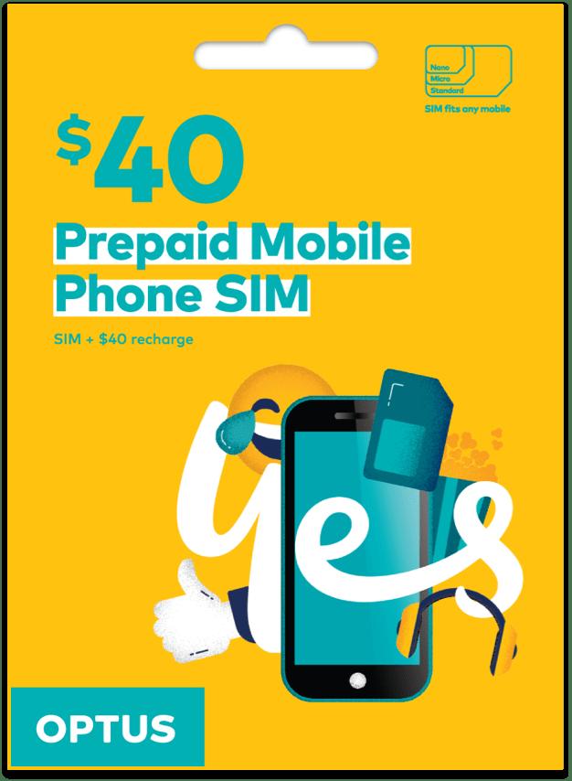 Optus $40 Prepaid SIM