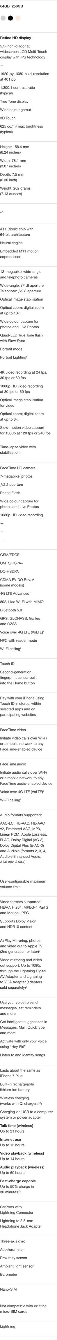 iPhone 8 Plus Specifications